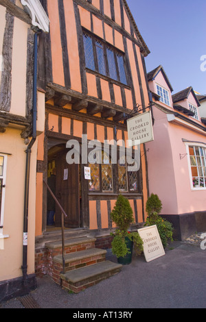 The Crooked House Gallery in Lavenham, Suffolk, UK, 2008 - Stock Photo