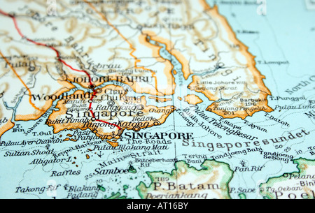 Singapore the way we looked at it in 1949 - Stock Photo