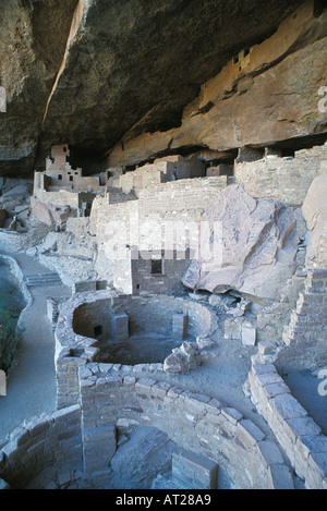Cliff Palace Cliff Dwelling in Mesa Verde National Park Colorado - Stock Photo