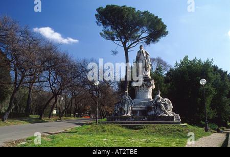 Statue at Villa Vorghese Roma Italia - Stock Photo