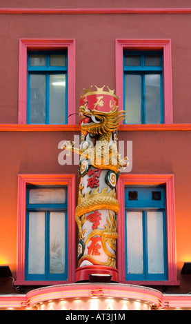 Detail Of Restaurant In Chinatown London - Stock Photo