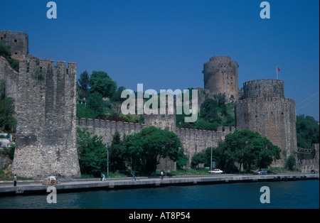 Rumeli castle Istanbul Turkey - Stock Photo