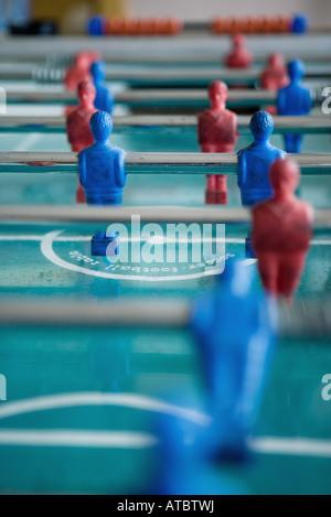 Foosball table, extreme close-up - Stock Photo