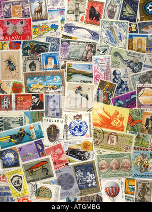 Postage Stamps of the World - Stock Photo