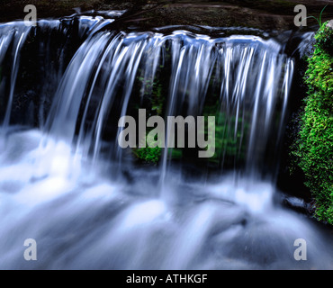 Waterfall miniature, Fern Spring, Yosemite National Park - Stock Photo