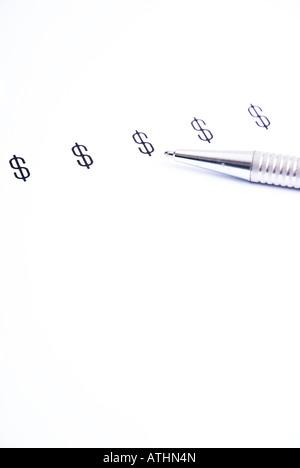 US Dollar $ Dollarzeichen - Stock Photo