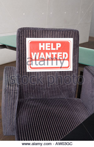 Empty office chair - Stock Photo