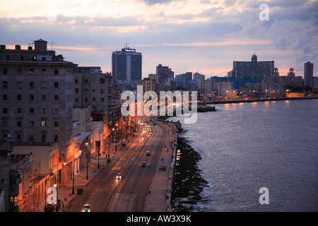 Prachtstraße Malecon in Havanna Havana Habana Kuba - Stock Photo