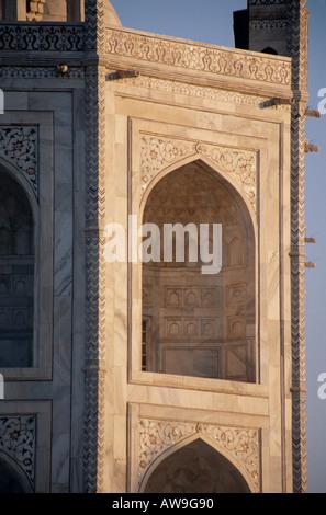 Detail of the Taj Mahal, Agra, Uttar Pradesh, India, - Stock Photo