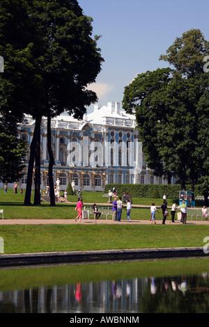 Russia, St Petersburg, Pushkin, Tsarkoe Selo (Tsar's Village), Catherine Palace - Stock Photo