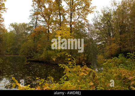 around the Tiergarten at fall, Berlin - Stock Photo