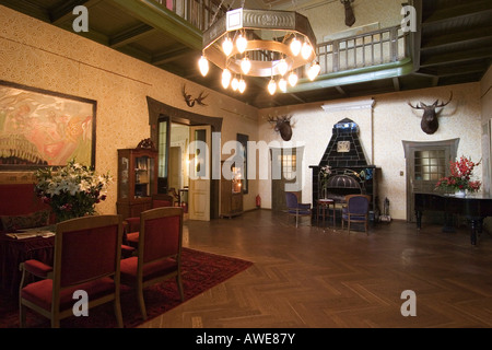 Entrance hall, Villa Ammende in Paernu, Estonia, Europe - Stock Photo