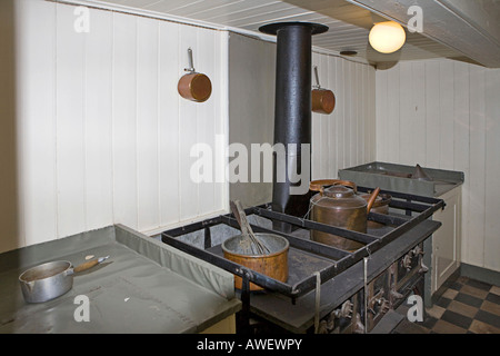 Galley, Fram ship at Fram Museum on Bygdøy Peninsula, Oslo, Norway, Scandinavia, Europe - Stock Photo