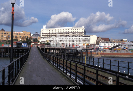 The peer in Southend on sea Essex England - Stock Photo