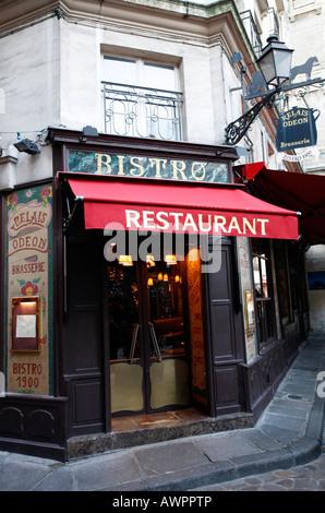 Bistro Restaurant 1900 at Place de l'Odeon, Paris, France, Europe - Stock Photo