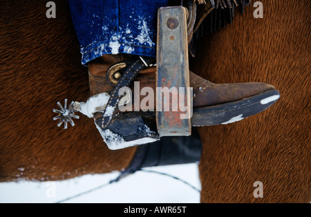 Cowboy boots with spurs - Stock Photo
