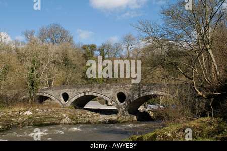 Cenarth Bridge, Carmarthenshire, West Wales. - Stock Photo