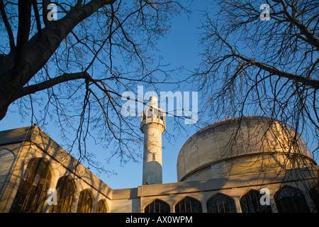 England, London, St John's Wood, Regents Park, London Central Mosque (Regents's Park Mosque) - Stock Photo