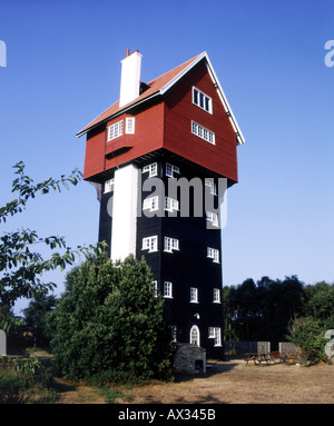 House in the Clouds Converted Water Mill Thorpeness Suffolk England UK United Kingdom Great Britain EU European - Stock Photo