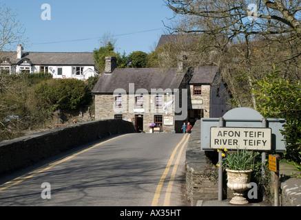 Cenarth Bridge 3, Cenarth, Carmarthenshire, West Wales, UK - Stock Photo