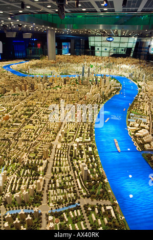 China, Shanghai. Shanghai Urban Planning and Expo 2010 Exhibition Hall - scale plan of the Shanghai of the future. - Stock Photo