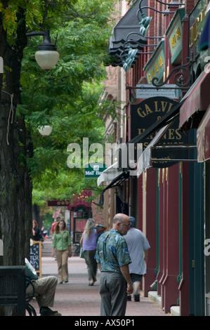 Market Street Gaffer District Corning New York Steuben County Finger Lakes region - Stock Photo