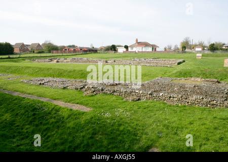 Roman Ruins, Caister, Norfolk UK - Stock Photo