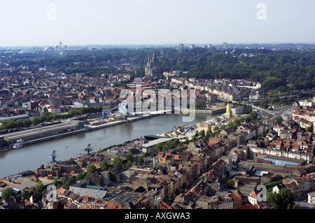 aerial view of Brussels - Stock Photo