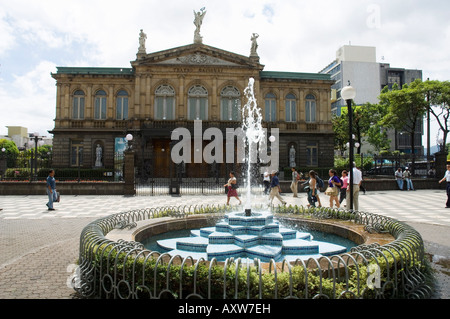 The National Theatre or Teatro Nacional, San Jose, Costa Rica - Stock Photo