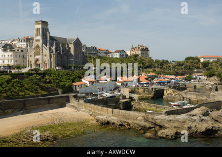 Fishing port, Biarritz, Basque country, Pyrenees-Atlantiques, Aquitaine, France, Europe - Stock Photo