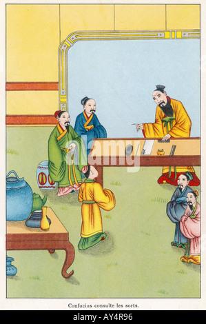 Confucius I Ching - Stock Photo