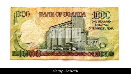 Uganda 1000 Shilling bank note - Stock Photo