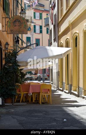 Rapallo,alley - Stock Photo