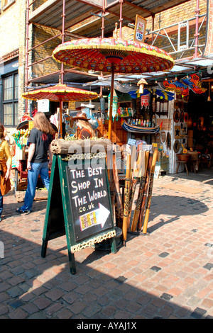 London Camden Lock Market , The Best Shop In The World , selling over 10,000 hand made products - Stock Photo