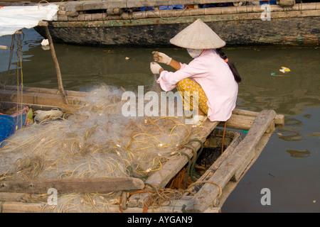 Phu Long Fishing Village, Cat Ba Island, Halong Bay, Vietnam - Stock Photo