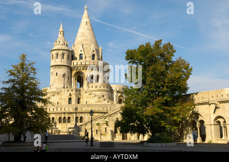 Fisherman's Bastion in the Castle District - Budapest Hungary - Stock Photo