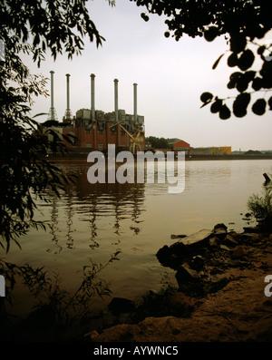 Fabrikgebaeude vom Opelwerk in Ruesselsheim am Main, Hessen - Stock Photo
