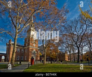 USA, Pennsylvania, Philadelphia, Independence Hall - Stock Photo