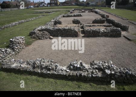 Caister Roman fort, Caister, Norfolk, England - Stock Photo