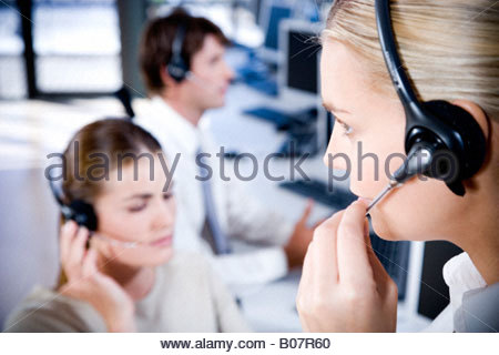 Staff in a Call Centre - Stock Photo