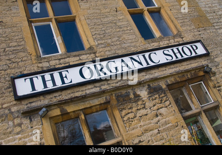 THE ORGANIC SHOP in centre of Stow on the Wold Cotswolds Gloucestershire England UK EU - Stock Photo