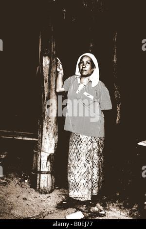 one armed lady, muslim village, koh samui - Stock Photo