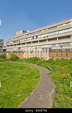 A view on the infamous Ferrier estate in Kidbrooke, London. - Stock Photo