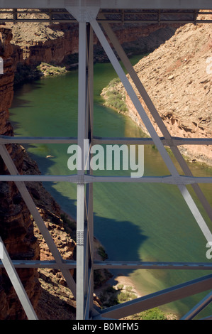 Detail of Navajo Bridge structure over Colorado River near Lee s Ferry Arizona Marble Canyon Grand Canyon National - Stock Photo