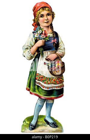 Little Red Riding Hood Brothers Grimm 19th century Germany - Stock Photo