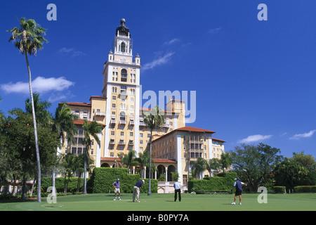 Biltmore Hotel Coral Gables Miami Florida USA - Stock Photo