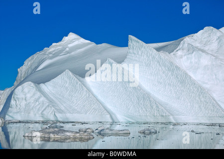 Iceberg, Kangia Ice Fjord, Disco Bay, UNESCO World Heritage Site, Jacobshavn, Ilulissat, Greenland, Arctic - Stock Photo