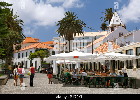 The town of Vila Baleira on the Portuguese Atlantic island of Porto Santo. - Stock Photo