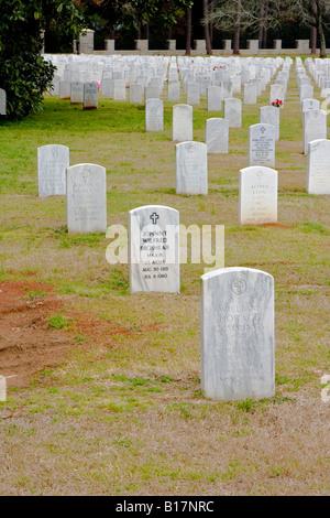 Andersonville Civil War Era National Military Cemetery in Macon County Georgia USA - Stock Photo