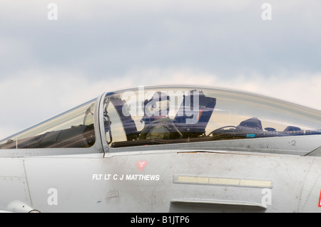 Eurofighter Typhoon Canopy pilot Kemble Air Show 2008 - Stock Photo